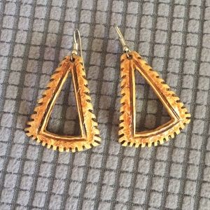 Wooden Earrings from Trinidad